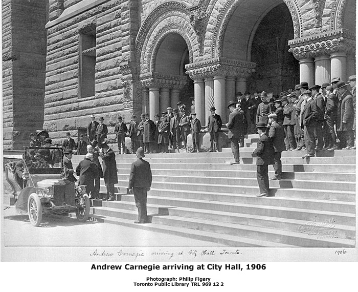 Andrew Carnegie Arriving at City Hall, 1906