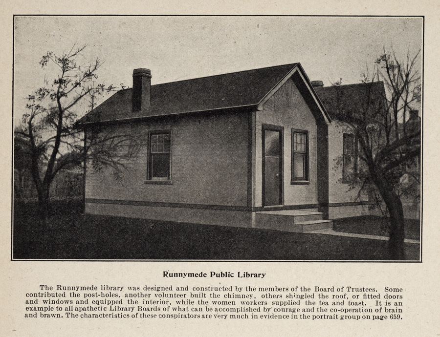 Runnymede Public Library, about 1912