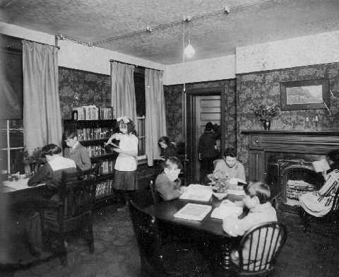 Library at University Settlement House, 1920s