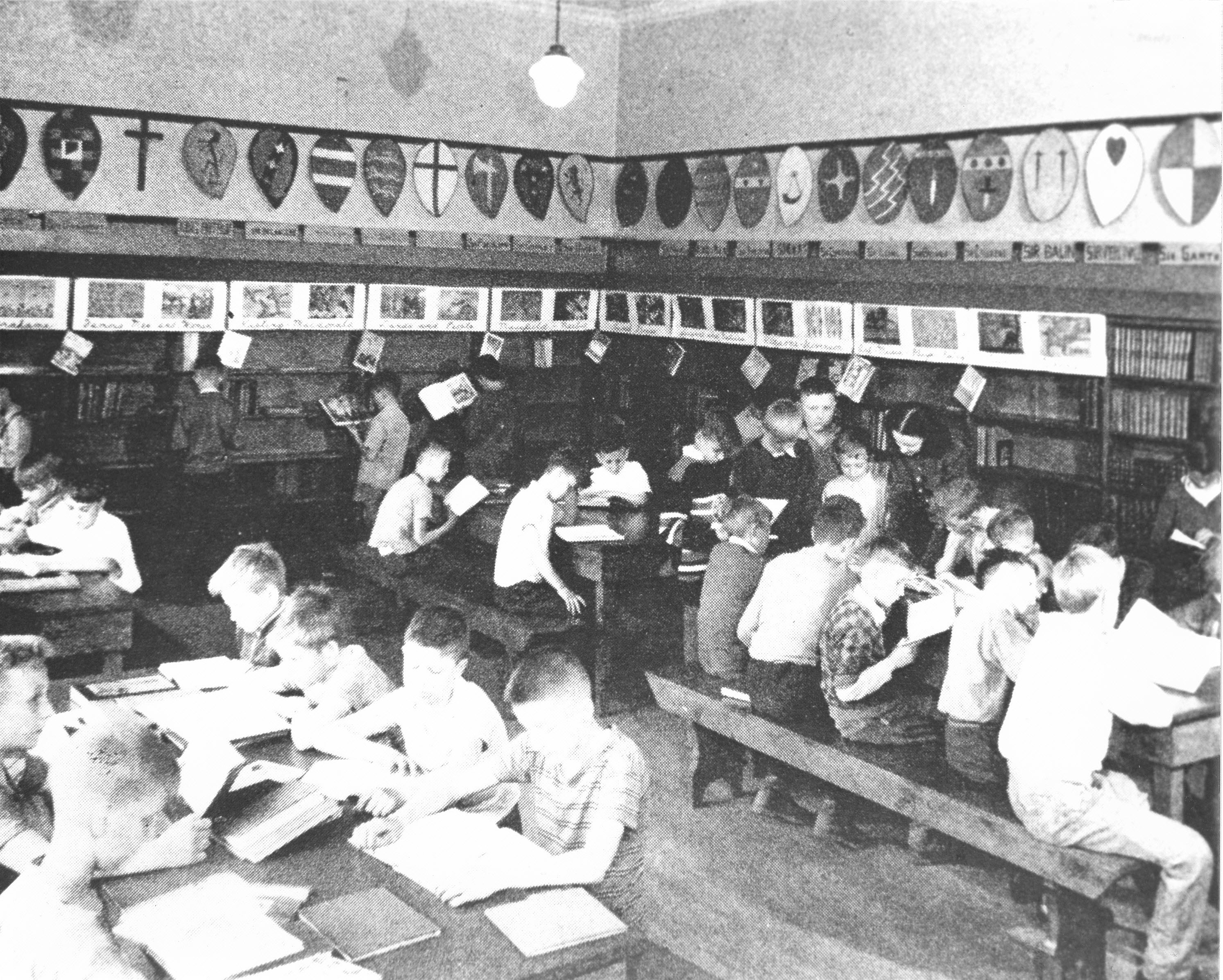 Library at St. Mary School, 1948