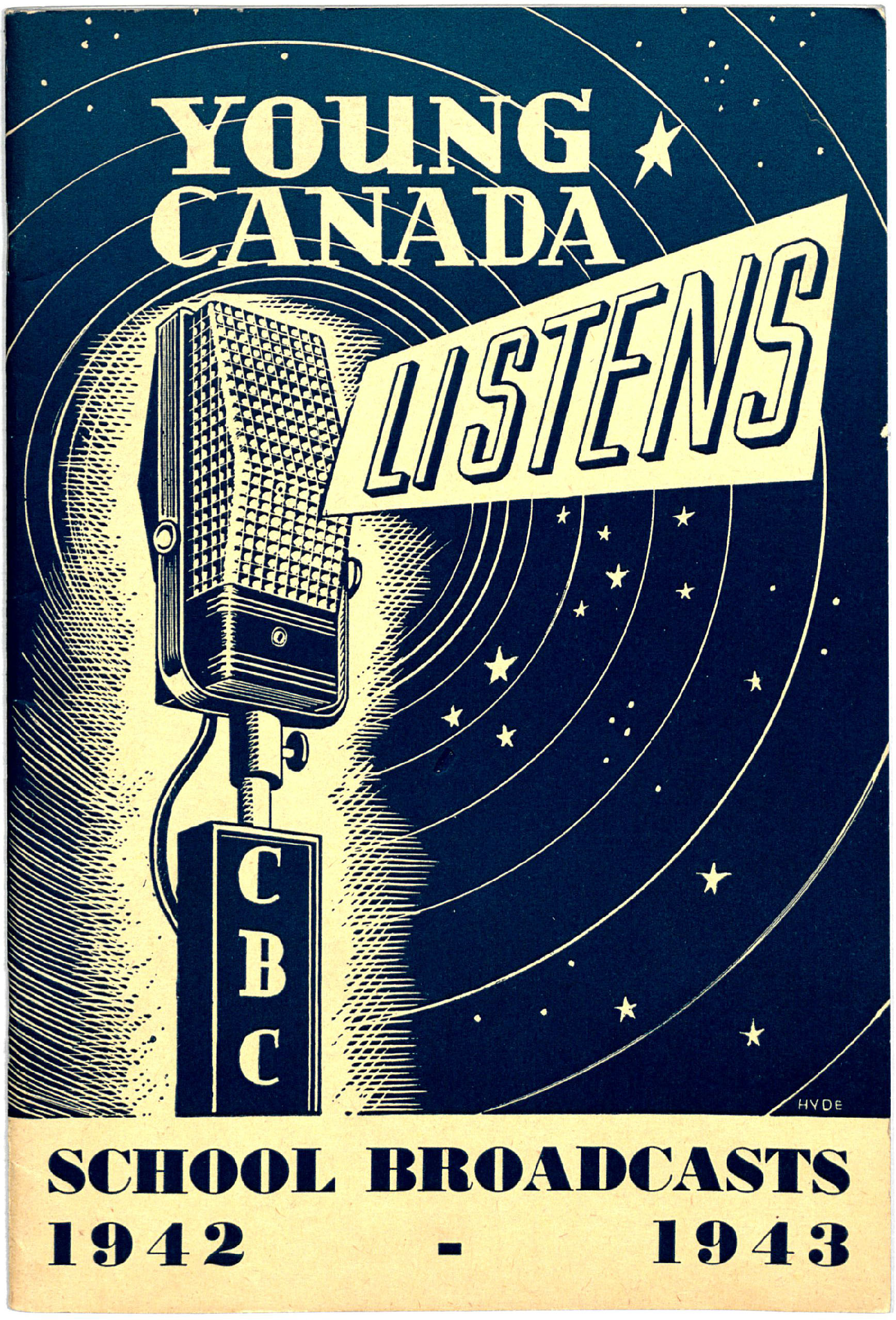 Program of CBC school broadcasts, 1942 - 1943