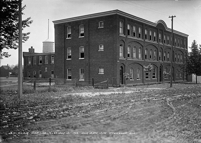J. E. Edwards & Sons Tannery/Leather Factory, Christie Street, southeast corner of Benson Avenue, 31 July 1913. City of Toronto Archives Fonds 1231, Item 442