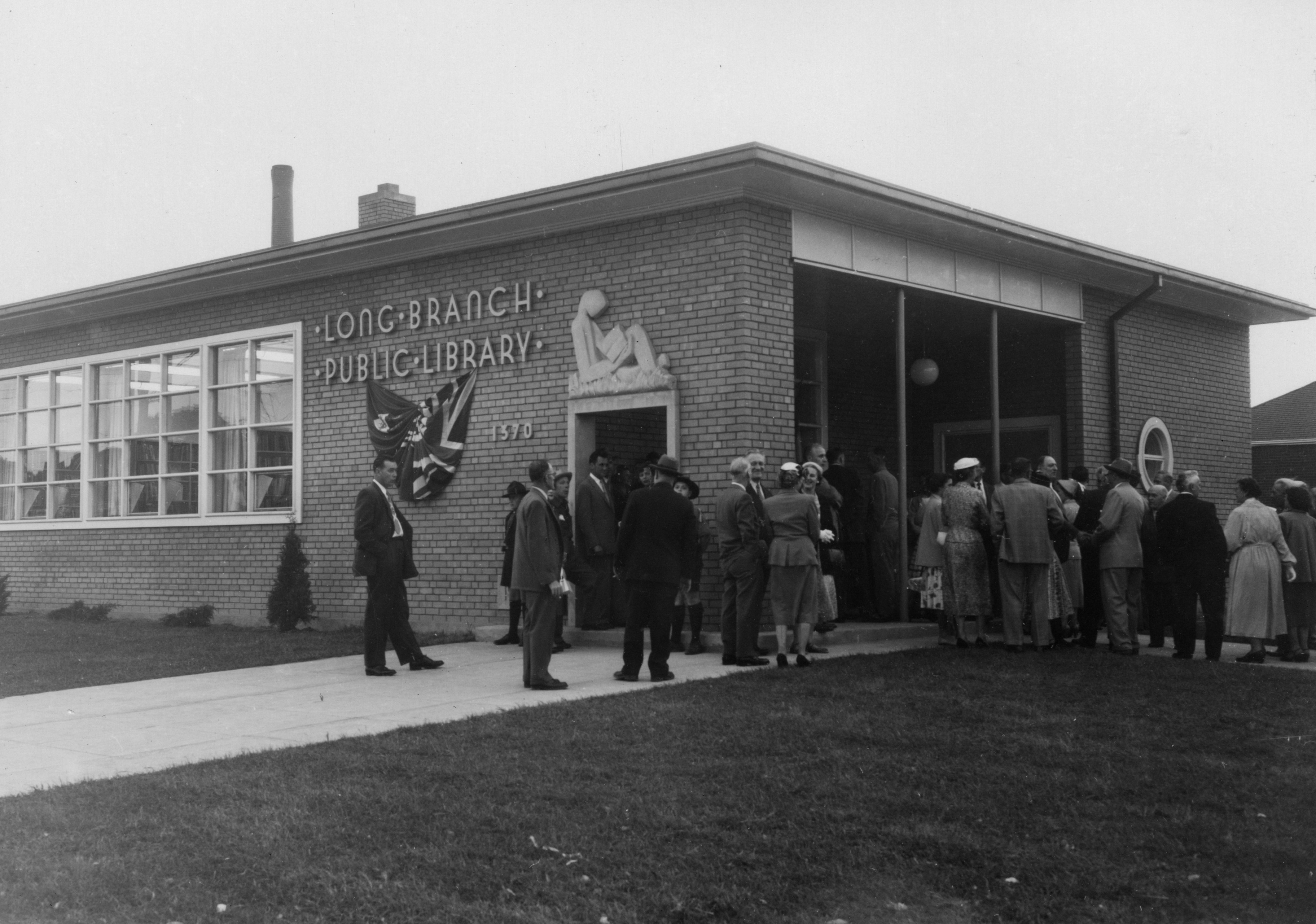 Long Branch Library opening, 8 June 1955.