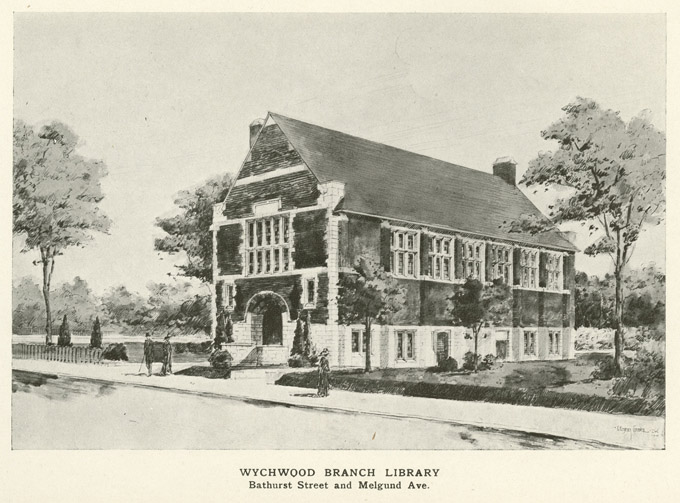 Wychwood Branch Library. Bathurst Street and Melgund Avenue