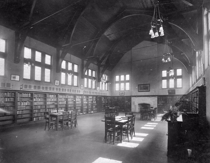 Wychwood Branch first floor: Adult Reading Room and Library, c.1916