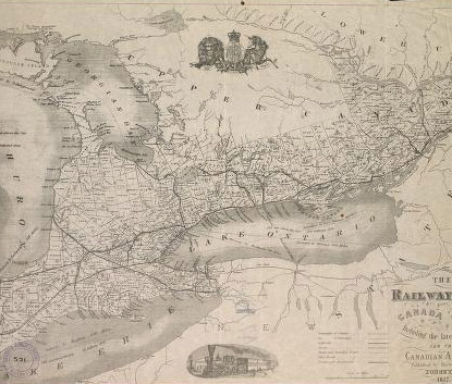 Map of Ontario from 1857