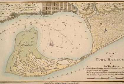 Map of Toronto's Harbour from 1815