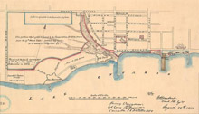 Map of Toronto's Harbour from 1850