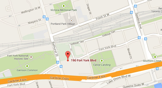 Map of Fort York location