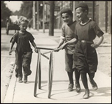 Image of Boys Playing on Chestnut Street,1922