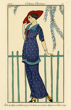 fashion plate from magazine
