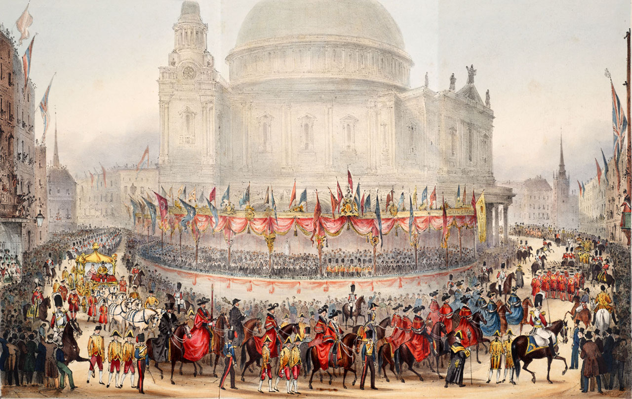 Queen Victoria's procession on Lord Mayor's Day, November 9, 1837